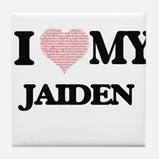 I Love my Jaiden (Heart Made from Lov Tile Coaster