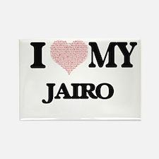 I Love my Jairo (Heart Made from Love my w Magnets