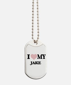 I Love my Jake (Heart Made from Love my w Dog Tags