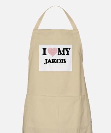 I Love my Jakob (Heart Made from Love my wor Apron
