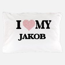 I Love my Jakob (Heart Made from Love Pillow Case