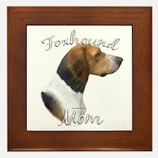 Foxhound Mom2 Framed Tile