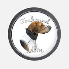 Foxhound Mom2 Wall Clock