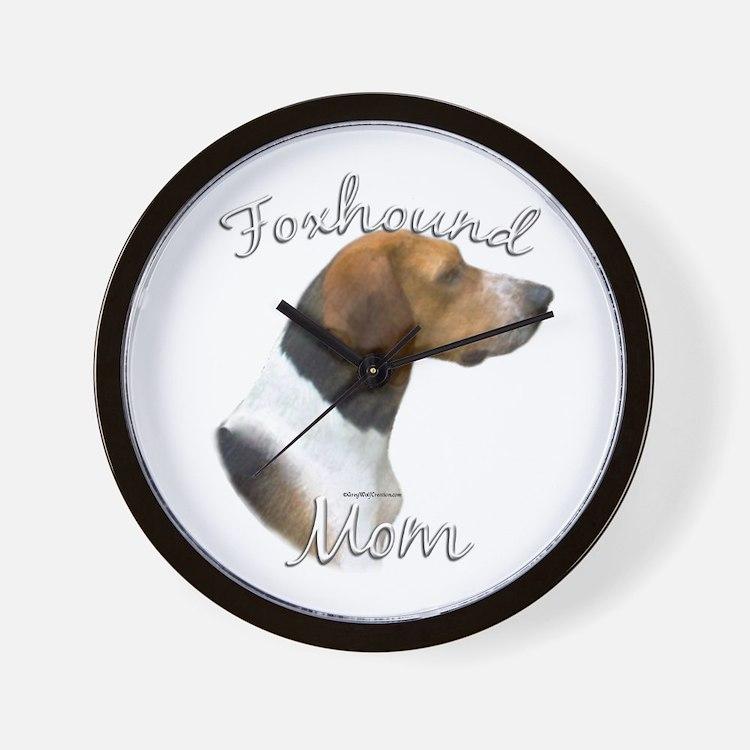 Foxhound Mom2 Wall Clock