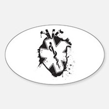 star of life heart Decal