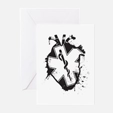 star of life heart Greeting Cards