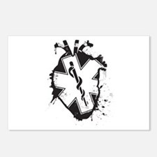 star of life heart Postcards (Package of 8)