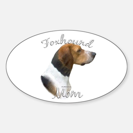 Foxhound Mom2 Oval Decal