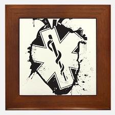 star of life heart Framed Tile