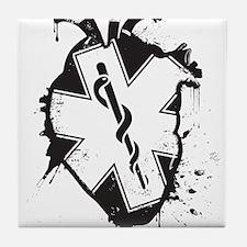 star of life heart Tile Coaster