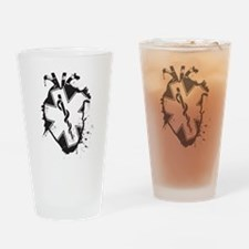 star of life heart Drinking Glass
