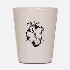 star of life heart Shot Glass