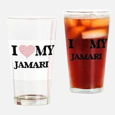 I Love my Jamari (Heart Made from L Drinking Glass