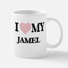 I Love my Jamel (Heart Made from Love my word Mugs