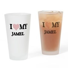 I Love my Jamel (Heart Made from Lo Drinking Glass
