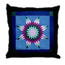 Star Quilt Block Throw Pillow