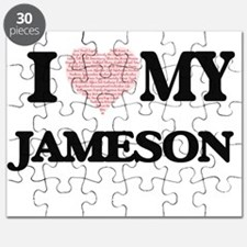 I Love my Jameson (Heart Made from Love my Puzzle