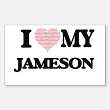 I Love my Jameson (Heart Made from Love my Decal