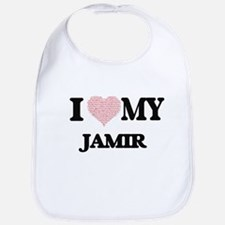 I Love my Jamir (Heart Made from Love my words Bib
