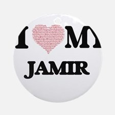I Love my Jamir (Heart Made from Lo Round Ornament