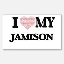 I Love my Jamison (Heart Made from Love my Decal