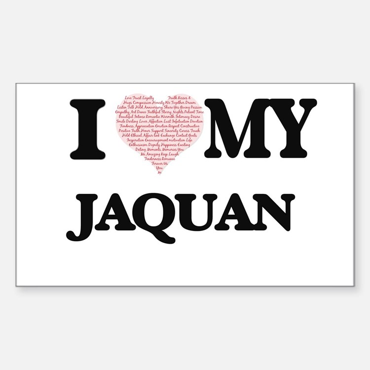 I Love my Jaquan (Heart Made from Love my Decal