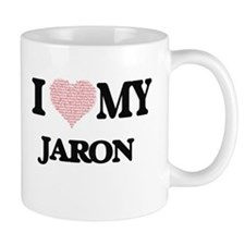 I Love my Jaron (Heart Made from Love my word Mugs
