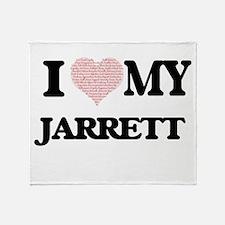 I Love my Jarrett (Heart Made from L Throw Blanket