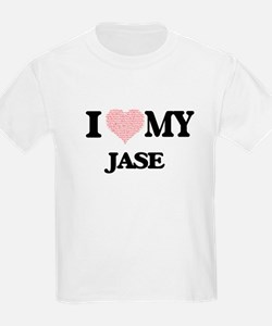 I Love my Jase (Heart Made from Love my wo T-Shirt