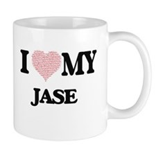 I Love my Jase (Heart Made from Love my words Mugs