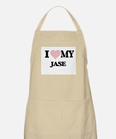 I Love my Jase (Heart Made from Love my word Apron