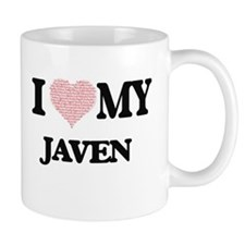 I Love my Javen (Heart Made from Love my word Mugs