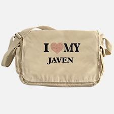 I Love my Javen (Heart Made from Lov Messenger Bag