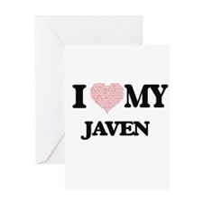I Love my Javen (Heart Made from Lo Greeting Cards