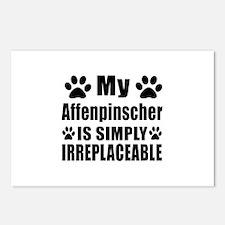 Affenpinscher Dog Designs Postcards (Package of 8)