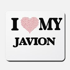 I Love my Javion (Heart Made from Love m Mousepad