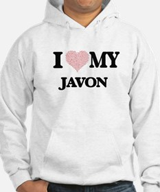 I Love my Javon (Heart Made from Hoodie