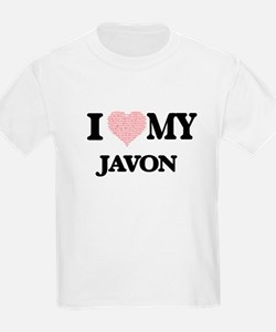 I Love my Javon (Heart Made from Love my w T-Shirt