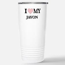 I Love my Javon (Heart Travel Mug
