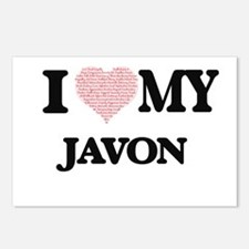 I Love my Javon (Heart Ma Postcards (Package of 8)