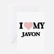 I Love my Javon (Heart Made from Lo Greeting Cards