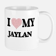 I Love my Jaylan (Heart Made from Love my wor Mugs