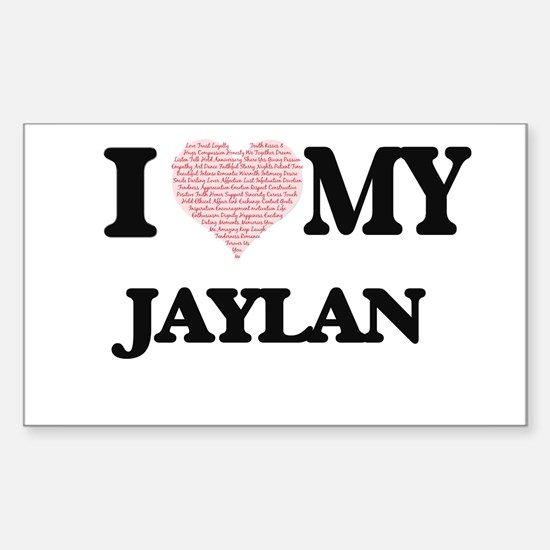 I Love my Jaylan (Heart Made from Love my Decal