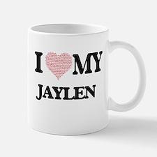 I Love my Jaylen (Heart Made from Love my wor Mugs