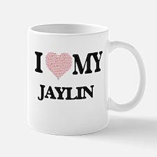I Love my Jaylin (Heart Made from Love my wor Mugs