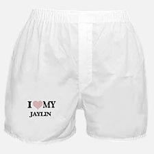 I Love my Jaylin (Heart Made from Lov Boxer Shorts