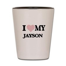 I Love my Jayson (Heart Made from Love Shot Glass