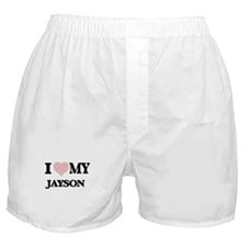 I Love my Jayson (Heart Made from Lov Boxer Shorts
