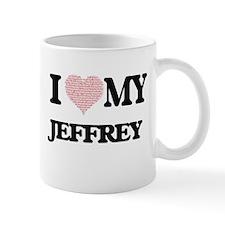 I Love my Jeffrey (Heart Made from Love my wo Mugs