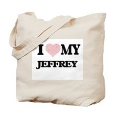 I Love my Jeffrey (Heart Made from Love m Tote Bag